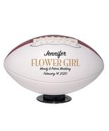 Flower Girl Regulation Football Wedding Gift - Personalized Wedding Favor - $59.95