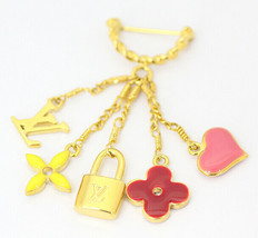 LOUIS VUITTOM Louis Vuitton charm brooch M65353 Sweet Burosshu Monogram - $232.51