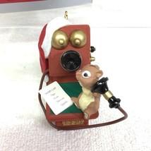 1998 Chatty Chipmunk Hallmark Christmas Tree Ornament MIB Price Tag H6 image 2