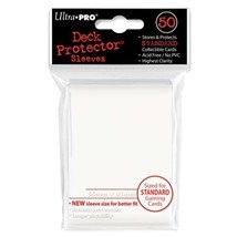 50 Ultra Pro White Standard Deck Protector Card Sleeves Pokemon MTG ULP8... - $5.99