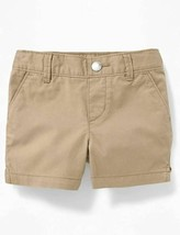 OLD NAVY Twill Pull-On Khaki Chino Shorts Baby Toddler Girls 18-24 Months - $8.95