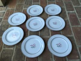 8 Noritake CREST China 5421 JAPAN Salad / Dessert Plates Vintage Mid century - $20.09