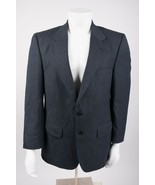 Burberry's Men's Suit Coat Blazer Jacket 42 R Navy Blue Windowpane 100% ... - $79.19