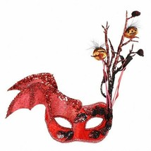Masquerade Eye Mask - Hallows Eve , Red - $24.43 CAD