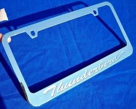 1 Ford Thunderbird Engraved Chromed Metal License Plate Frame w/ Logo Screw Caps - $19.99