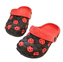 Kids Sandals in/Outdoor Toddler Clogs Shoes/Black+Red Football 15.5CM Length