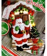 Bucilla Santa is Here Christmas Eve House Gifts Lighted Felt Stocking Ki... - $44.95