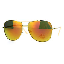 Square Aviator Sunglasses Oversized Fashion Gold Metal Frame Mirror Lens - $7.87+
