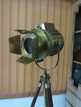 Nauticalmart Antique Marine Nautical Spotlight Hollywood Floor Lamp Wood... - $197.01