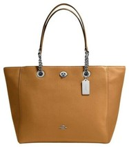 Coach Pebble Turnlock Large Chain Tote 56830 - $199.00