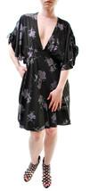 Free people Women's Melanie Printed Mini Dress  Black Size XS RRP £89 BCF65 - $86.93