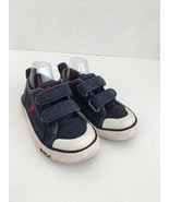 Polo Ralph Lauren Boys Toddler Shoes 5.5 Navy Blue Red Pony Hook and Loo... - $24.74