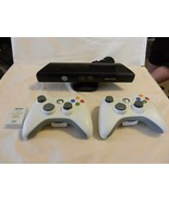 Microsoft XBox 360 Kinect #1414 with 2 wireless controllers, 1 Battery - $92.81