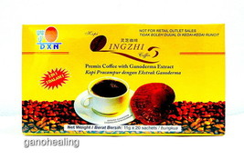4 Boxes DXN Lingzhi Black Coffee 2 in 1 Ganoderma Reishi Instant Cafe Ex... - $43.34