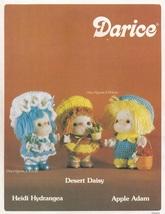Heidi Hydrangea, Desert Daisy & Apple Adam Doll Clothes, Darice Crochet ... - $3.95