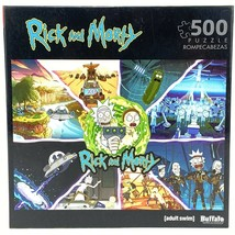 Rick & Morty 500 piece Jigsaw Puzzle Adult Swim 03350 Buffalo Games  - $29.45