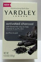 Yardley London Activated Charcoal Bar Soap With Clay Moisturizing 4.25 oz New - $10.88