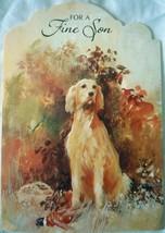 Vintage Hallmark For A Fine Son Dog Birthday Card 1970s - $2.99