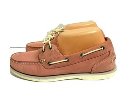 Women's Timberland Pink Rose in Line Boat Loafers Shoe Size 7.5 - $39.60
