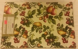 Set Of 2 Fabric Kitchen Placemats, Fruits By Hd - $9.89