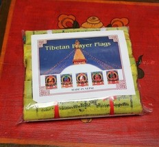 5 Roll Tibetan Prayer Flag Cotton High Quality 2.4M,NEPAL - $17.82