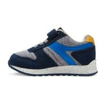 Cat & Jack Navy Yellow Boys Toddler Chase Jogger Sneakers Shoes Hook & Loop NWT image 2