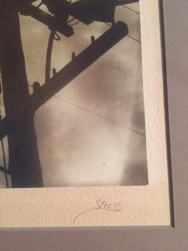 Stress / Matted Photograph Men Working On Powerline