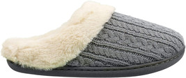 IZOD Ladies' Casual Fuzzy Warm Slip-on Scuff Slippers, Size 5-6 to 9-10 ... - $30.56