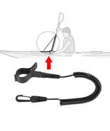 ENJOY® Elastic Coiled Paddle Leash For Kayak Canoe Rowing Boat Safety Rod - $11.18