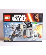Lego Star Wars 7 Force Awakens 75132 First Order Battle Pack New in Seal... - $35.99
