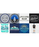 Life Is Good Men's M10113 Print Screen Short Sleeve Active Tech Tee, Medium - $33.99