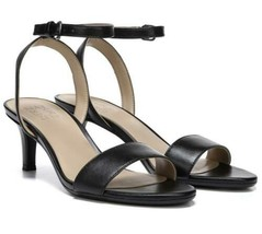 Naturalizer Women Slingback Ankle Strap Sandals Hattie Size US 10W Black Leather - $48.94