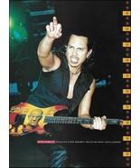 Metallica Kirk Hammett ESP KH-2 Boris Karloff Mummy guitar 2000 pin-up p... - $3.95