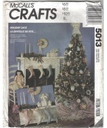 McCalls Pattern 5013 / 668 / P250 Holiday Lace Christmas Decor Ornaments... - $6.99