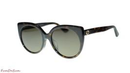 Gucci Women's Sunglasses GG0325SA 002 Havana Brown Lens Designer 57mm - $202.73