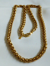 "Fashion 14K Gold Plate B.C. Lind Round .25"" Wide Chain Necklace Signed 20.5""L - $25.34"