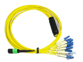 RiteAV MTP/APC (M) - LC Breakout Cable Assembly, 12 Fibers, Singlemode 2M - $129.97