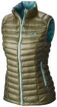 $245 Mountain Hardwear Ghost Whisperer 800 Q Down Vest Womens M MD Stone... - $137.45
