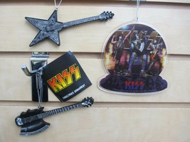 Set of 3 - KISS Ornaments - Demon & Star Child Guitars - New with Tags - $16.95