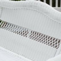 Traditional White Resin Wicker Outdoor Porch Swing Garden Patio Furniture image 4
