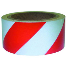 "NEW 2"" x 30 ft Reflective Roll Tape Red & Silver Stripe - $15.99"
