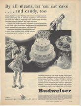 BUDWEISER Vintage Print Ad  1945 Full Page Black & White  Ad Poultry Tri... - $3.99