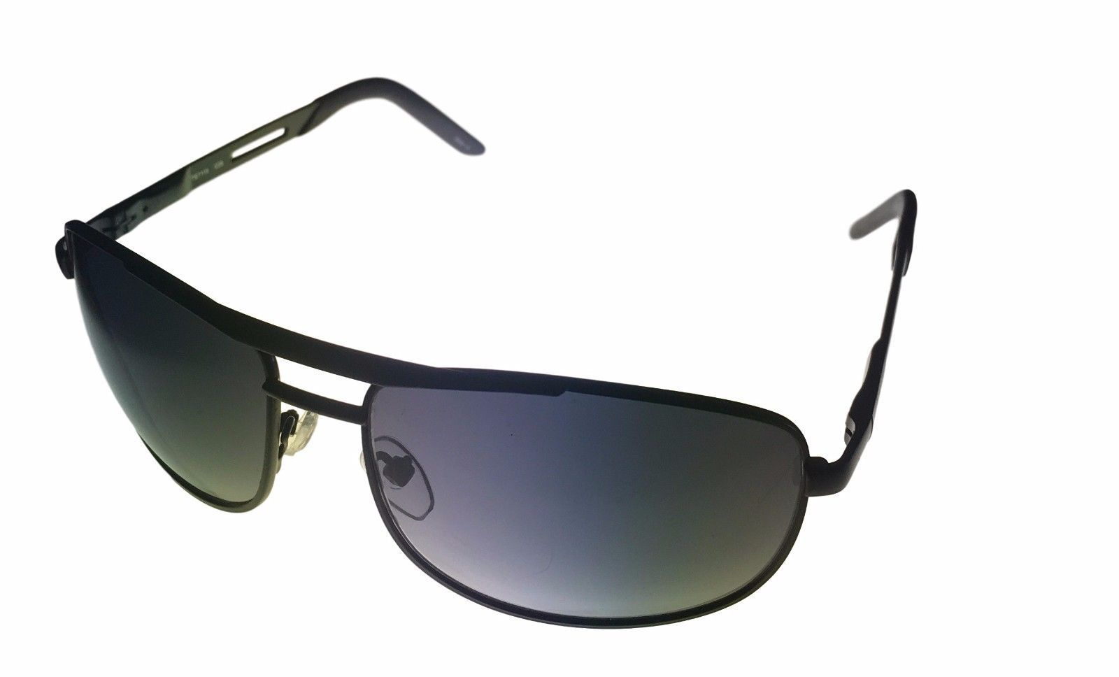 Timberland Mens Sunglass Black Rimless Metal Aviator Solid Smoke Lens TB7113 2A