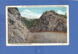 SNOW CAPS FROM BIG ROCK CUT PANORAMA POINT CHICAGO CREEK ROAD CO 1937  W... - $8.42