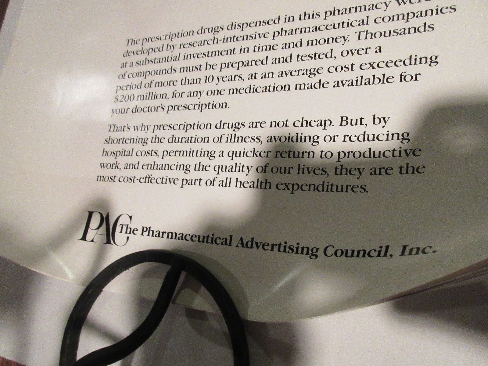"Rx , Pharmacy . Poster , 16"" X 22"" , Prescription Drug Costs , 1980s , Rare image 3"