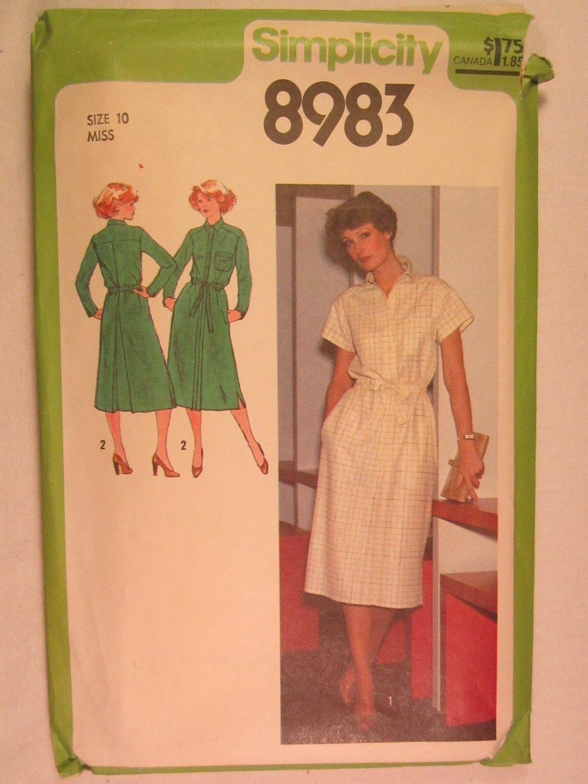 3fc528cfe450 CHOICE 1970 s Simplicity PATTERN Miss Size 6 8 10 12 22 DRESS Jumpsuit  HALTER.