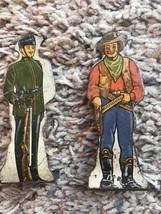 2 Vintage Tin Tinplate Lithograph Toys American Cowboy Kings Royal Rifle... - $16.82