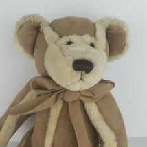 "Bath & Body Works Gingerbread Plush Bear 10"" Tan Faux Suede with Shearling Trim  - $9.90"