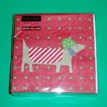 Pack of 40 Red Dachshund Dog Christmas Holiday Napkins – NIP - $7.50