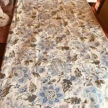 Pottery Barn Tascha Duvet Cover Blue Queen Palampore Floral No Sham Rare - $129.00